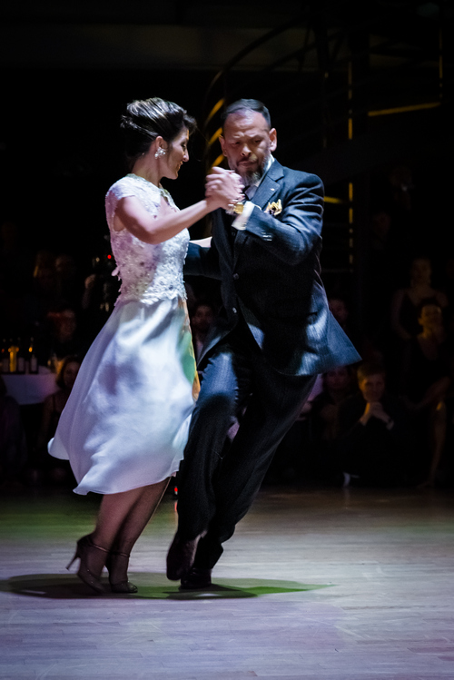 Josefína and Fabián in a dynamic dance position.